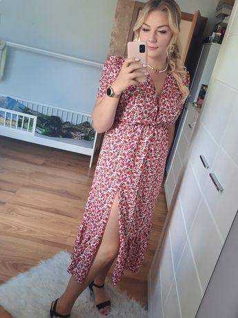 Sukienka długa kavilook w kwiatki melania s-xl
