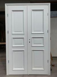 Drzwi OD RĘKI wewnętrzne białe RETRO prowansalskie DWUSKRZYDŁOWE