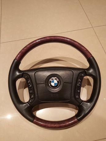 Kierownica drewniana BMW E38, E39