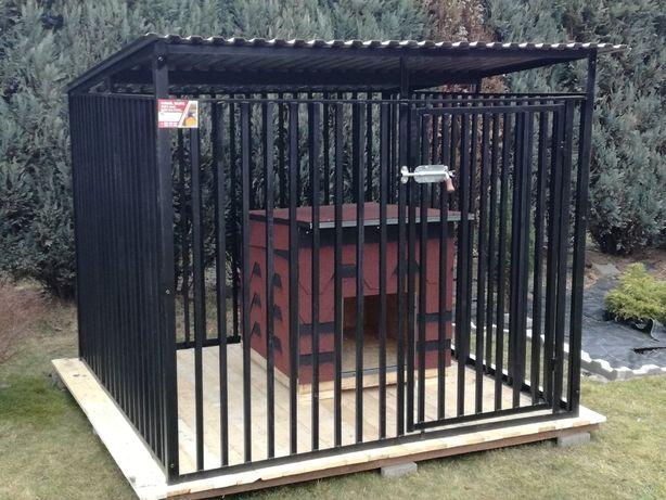 kojce dla psa, SOLIDNA KONSTRUKCJA 2x3m+ otwór na budę