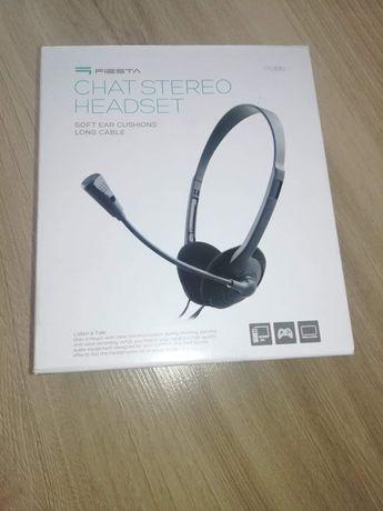 Słuchawki chat stereo headset (z dwoma końcówkami)