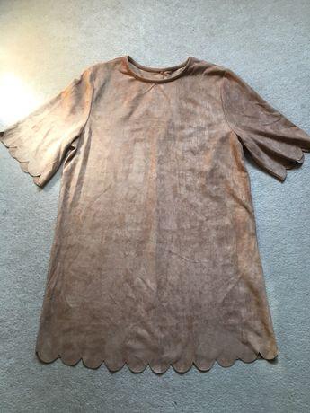 Платье-туника под замш