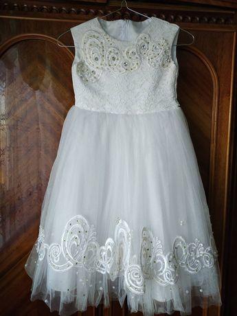 Нарядне біле  плаття