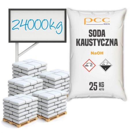 24000 kg - Wodorotlenek Sodu, Soda Kaustyczna płatki