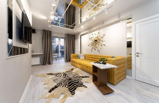 Посуточно шикарная 3к квартира бульвар Леси Украинки. Центр