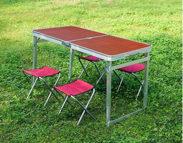 Стол для пикникаУСИЛЕННЫЙ + 4 стула (Чемодан)
