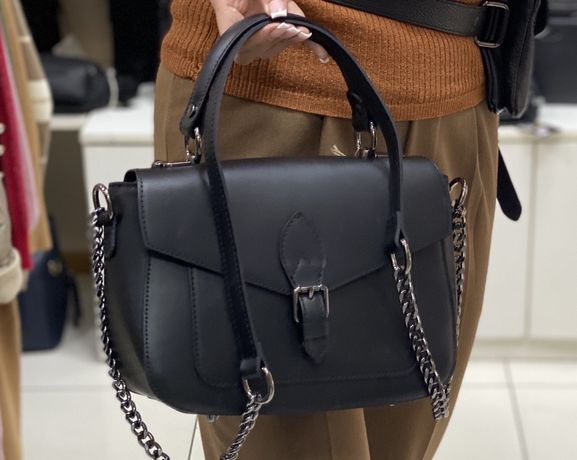 Шкіряна сумка італійська кожаная сумка Портфель Италия