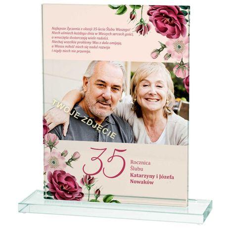 Prezent na 50 Rocznicę Ślubu nadruk zdjęcia na szkle
