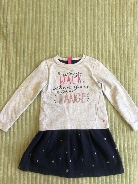 Детское теплое платье Joules