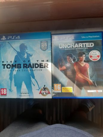 Gry ps4 uncharted, tomb rider, nfs rivals, fifa 18