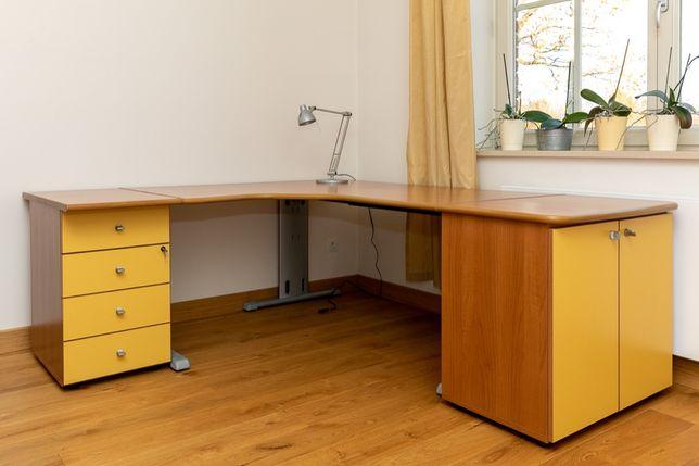 Duże biurko z szafkami i szufladkami - meble włoskie!