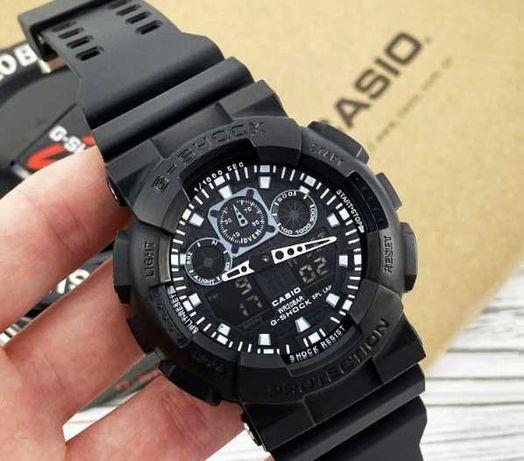 Наручний чоловічий електронний годинник Casio G - SHOCK GA - 100