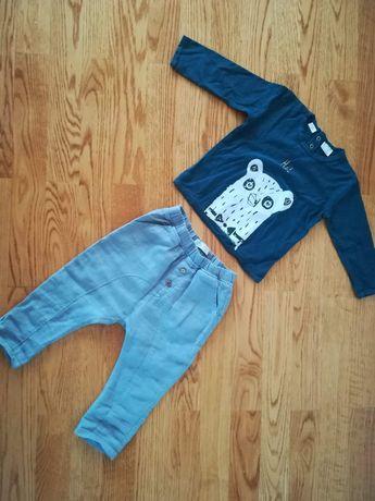 Komplet bluzeczka i spodnie  Zara rozmiar 92