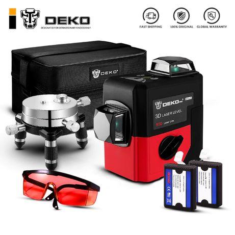 3D DEKO LL12-HV 12 линий 360° лазерный уровень нивелир + 2 БАТАРЕИ