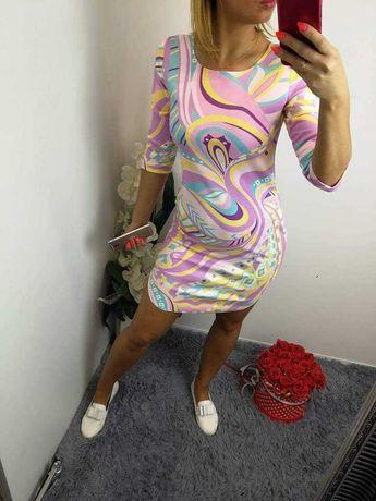 Sukienka zamszowa pastelowe kolory!! Różowa!! Rozmiary S/36 i M/38!!