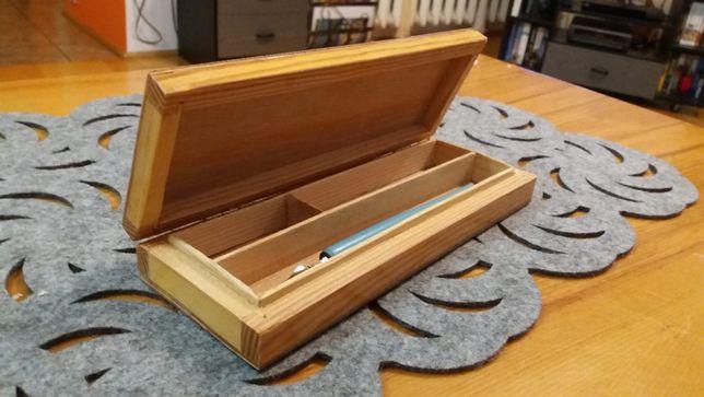 piórnik drewniany RETRO styl