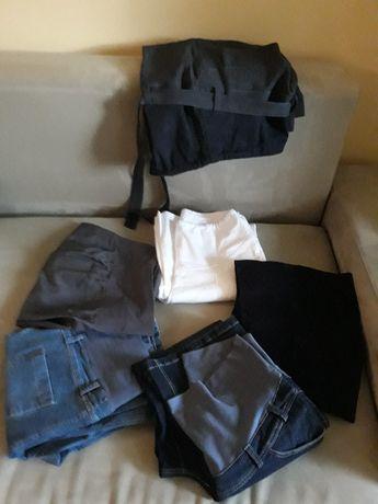 Spodnie ciążowe rozmiar 38, JAK NOWE!