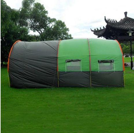 Палатка для кемпинга туннельный тент большая беседка