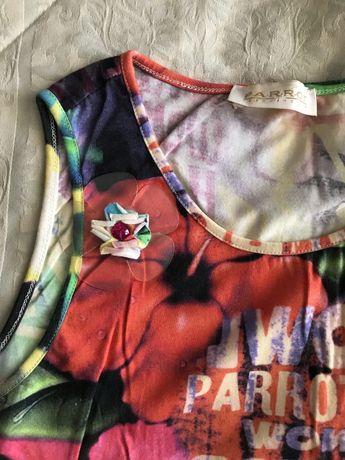Длинное яркое платье Parrot на 14 лет!