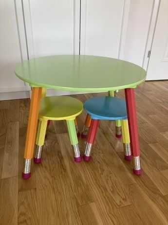 NOWE - Stolik i krzesełka KREDKI dla dziecka - 35% TANIEJ - LIKWIDACJA