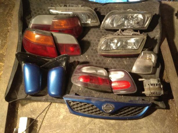 Nissan almera primera lampy, lusterka, komplet części