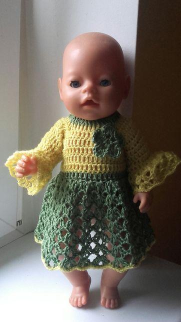 Sukienka na lalki baby born i bobas 37-40