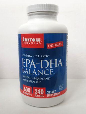 Рыбий жир омега-3 Jarrow Formulas EPA-DHA баланс, 1000 мг, 240 капсул