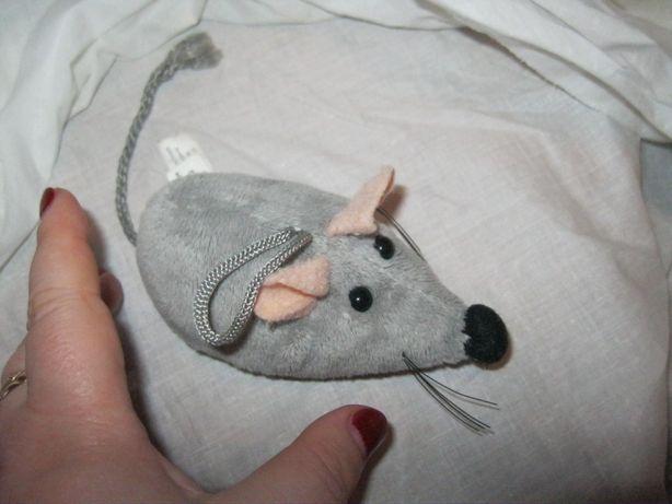 игрушка плюшевая мягкая крыса серая мышь германия мышка крыска