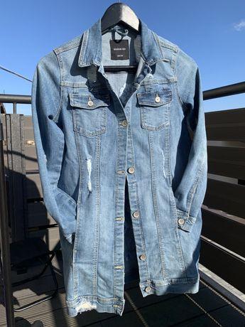 Kurtka jeansowa RESERVED 152 haft wiosna lato dziewczęca