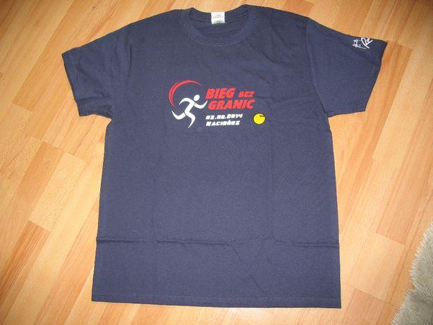 Koszulka bawełniana, granatowa z nadrukiem S/M