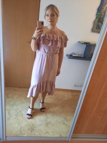 Sukienka hiszpanka falbanki wesele chrzciny XL długa