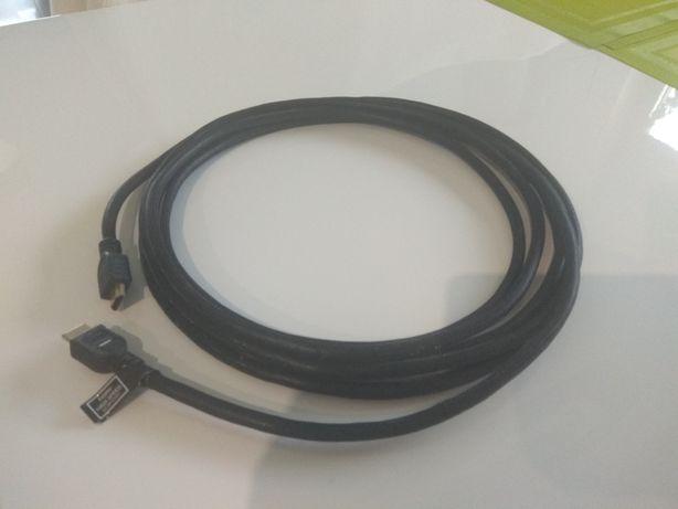 Kabel HDMI-HDMI w oplocie, 5 m.