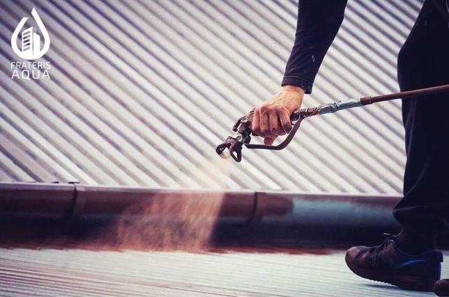 Malowanie dachów, pisemny protokół odbioru z gwarancją.