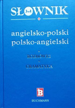 BUCHMANN Słownik 3w1 angielsko-polski + Rozmówki + Gramatyka