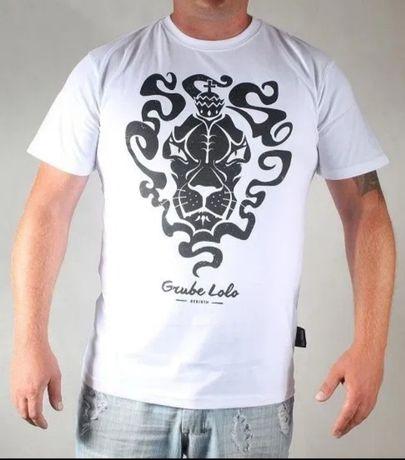 NOWA koszulka GRUBE LOLO Lion lew świecące oczy w ciemności fluo promo