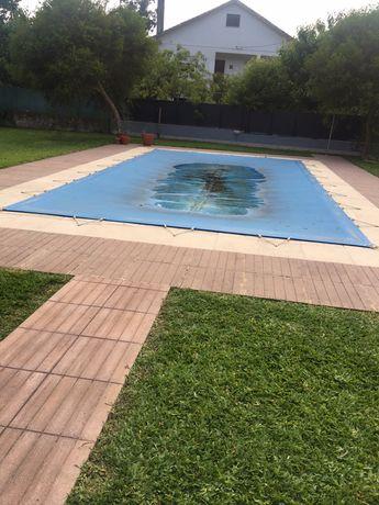 Cobertura de piscina em tela 4mx8m