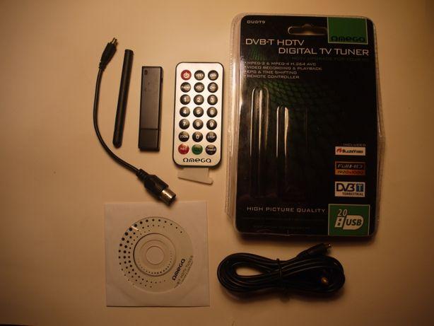 OMEGA USB DVB-T TUNER TV T900 MPEG-4 AVC z antena do laptopa