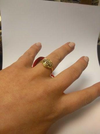 Złoty pierścionek z brylantami pr.750/4,75g/0,30ct Lombard Zeus