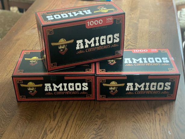 АМІГОС 1000! Гильзы для сигарет, гильзы для табака, сигаретные гильзи
