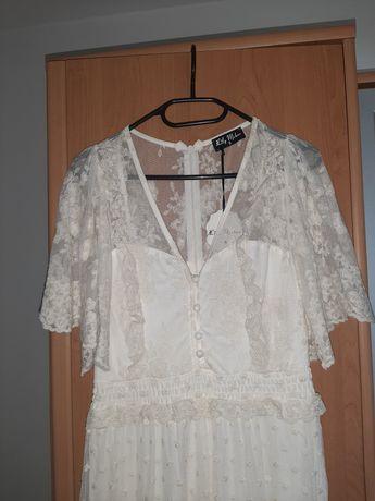 Sukienka koronkowa S