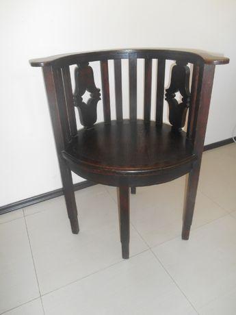 Antyczny fotel do biurka Art Deco, fotel-krzeslo z poczatku XXw