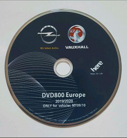 OPEL - Atualização GPS DVD800 MY2009 / MY2010 - Mapa Europa - ano 2020