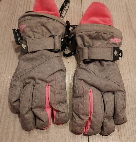 J.nowe rękawiczki narciarskie dla dziewczynki 4F r.S