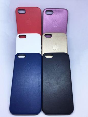 Capa pele sintética para iPhone 5/5s/SE/6/6s/6 Plus estilo Apple