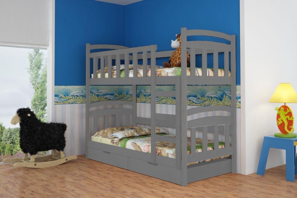 Nowość! Łóżko piętrowe Kamila z dwiema szufladami! Materace