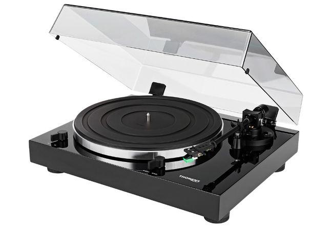 Gramofon Thorens TD-202 czarny, USB, igła audio-technica, winyl