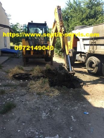Земельные работы копка траншей водопровода фундаментов выгребных ям