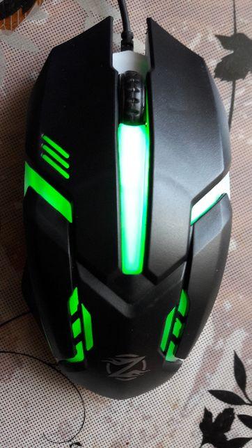 Игровая мышка Zornwee GM02 c подсветкой 5 цветов Новая!
