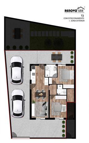Andar Moradia T2 novo em Gondomar no rés do chão com entrada independente