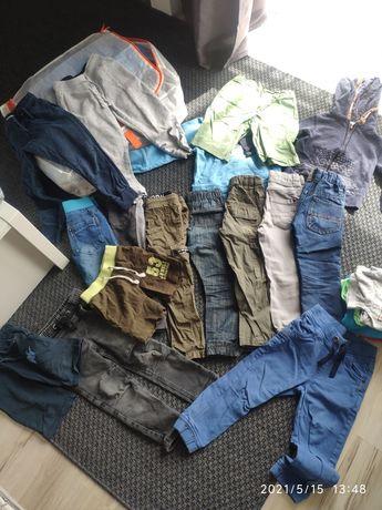 Paka spodni chłopięcych 98-104 i inne ubranka gratis